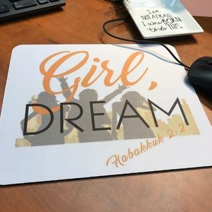 """✨Exclusive """"Girl Dream"""" Inspirational Mouse Pad✨"""